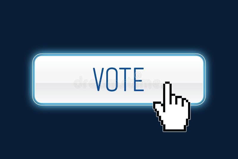 rösta royaltyfri illustrationer