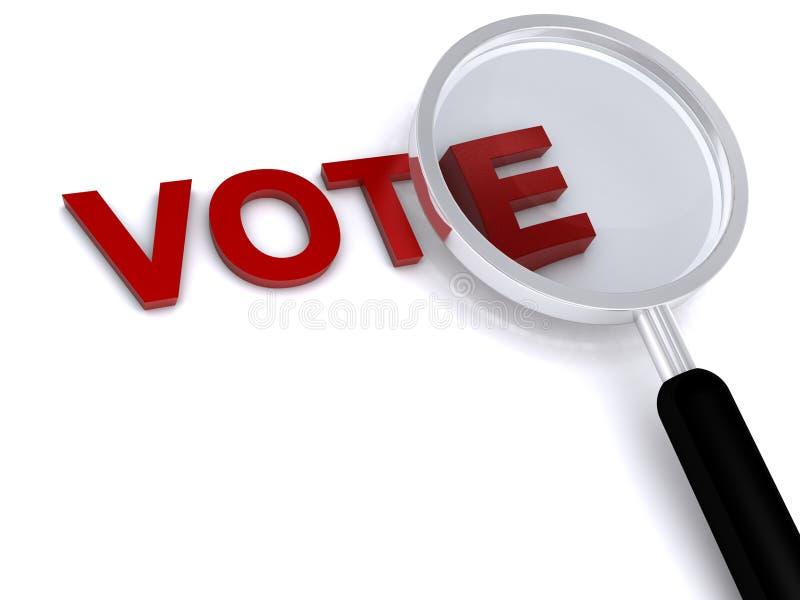 rösta arkivbild