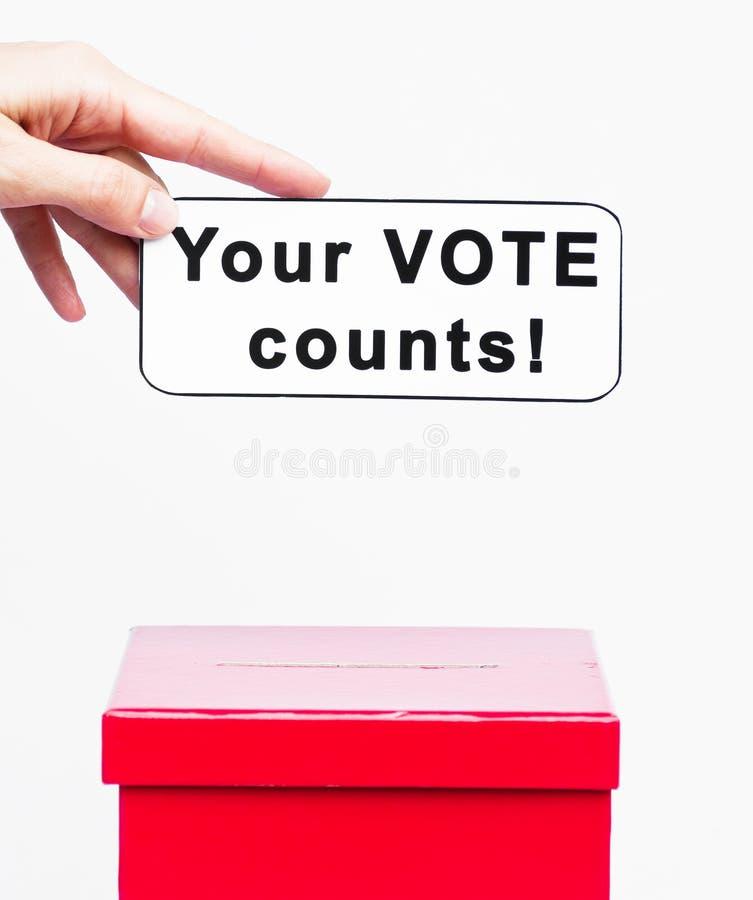 Rösta begreppet royaltyfria bilder