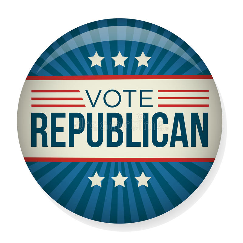 Rösta eller röstningaktionvalet Pin Button eller förse med märke royaltyfri illustrationer