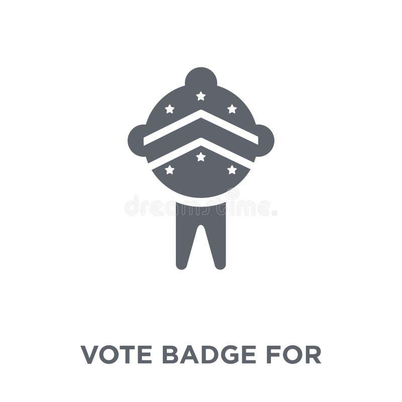 Rösta emblemet för politisk valsymbol från politisk collectio royaltyfri illustrationer