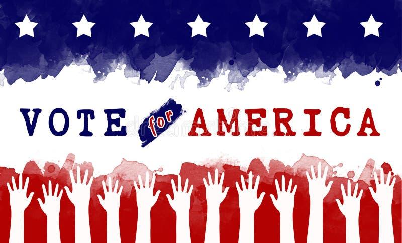 Rösta för Amerika stock illustrationer