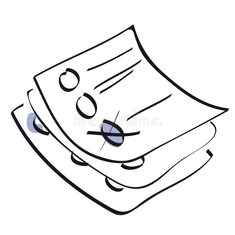 rösta för datalistor stock illustrationer