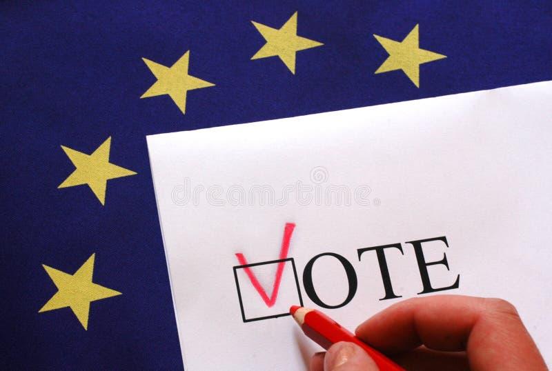Rösta för Europa royaltyfria foton