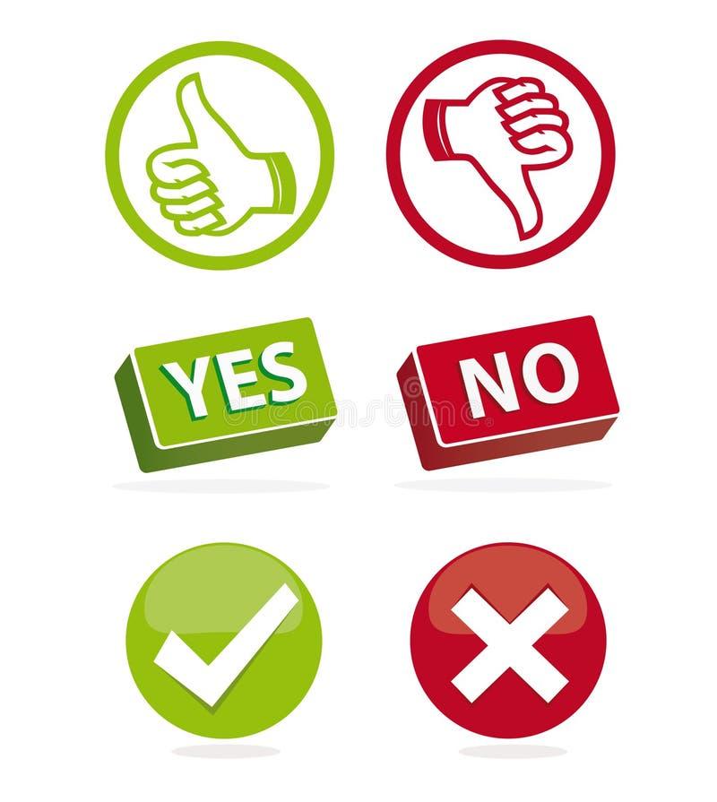rösta för symboler stock illustrationer