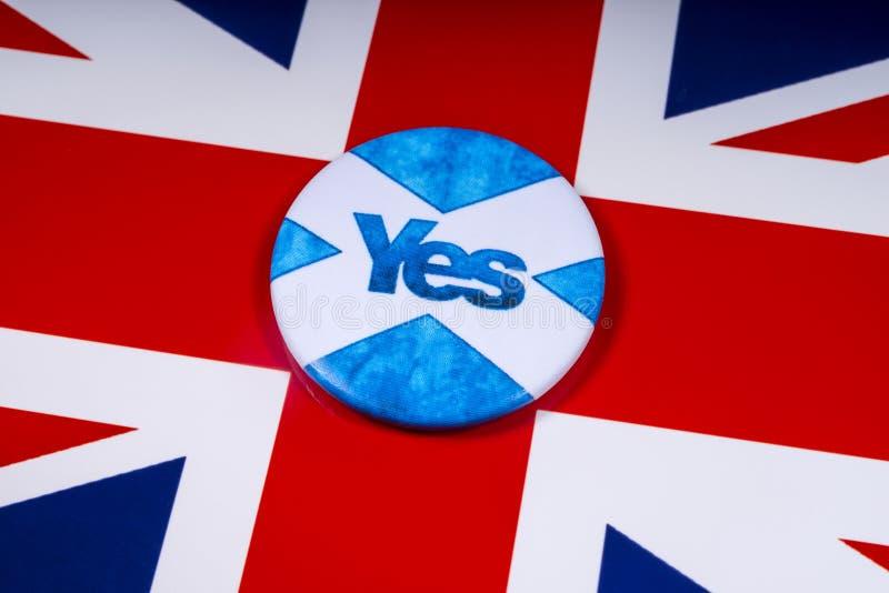 Rösta ja i den skotska självständighetfolkomröstningen arkivfoton