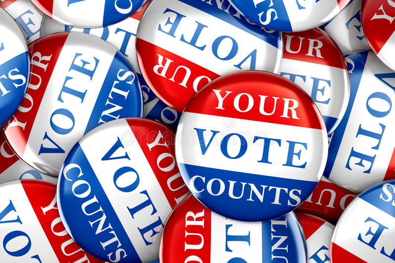 Rösta knappar med ditt röstar räknar vektor illustrationer