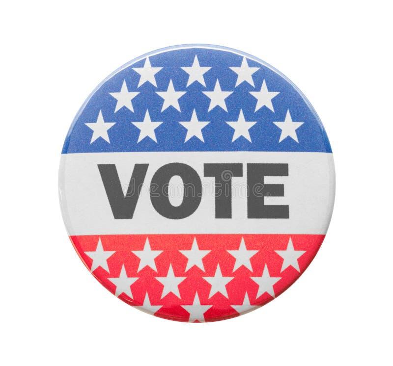 Rösta knappstiftet arkivfoto