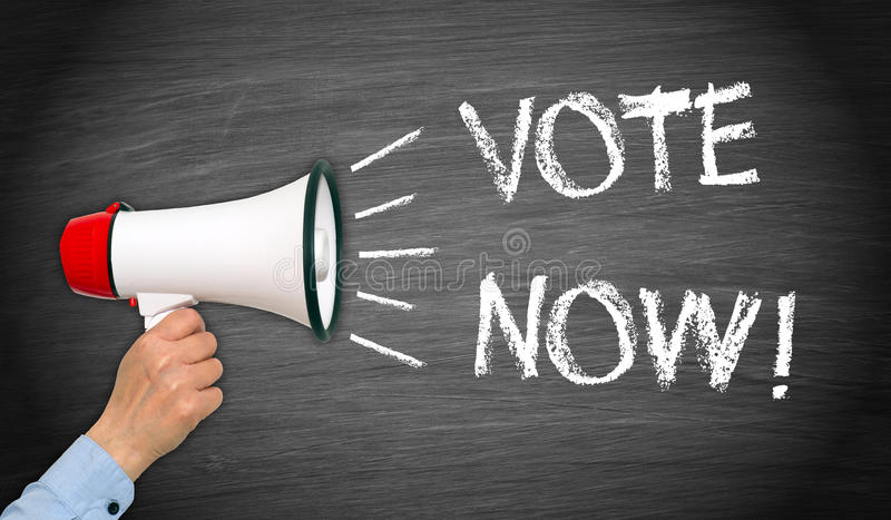 rösta nu royaltyfria bilder