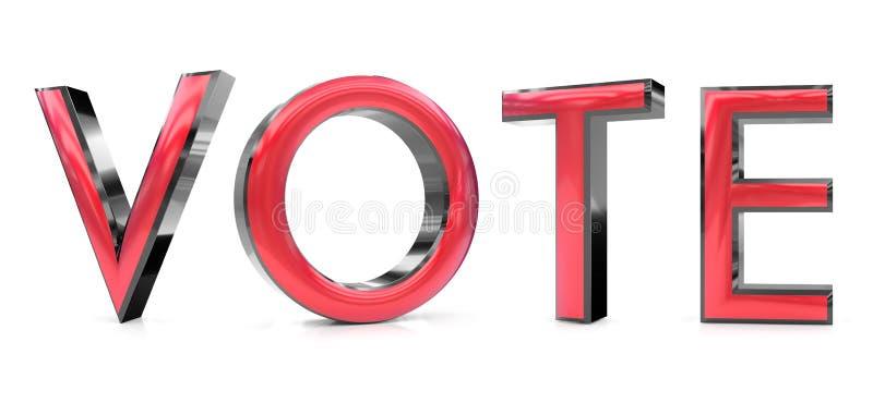 Rösta ordet 3d vektor illustrationer