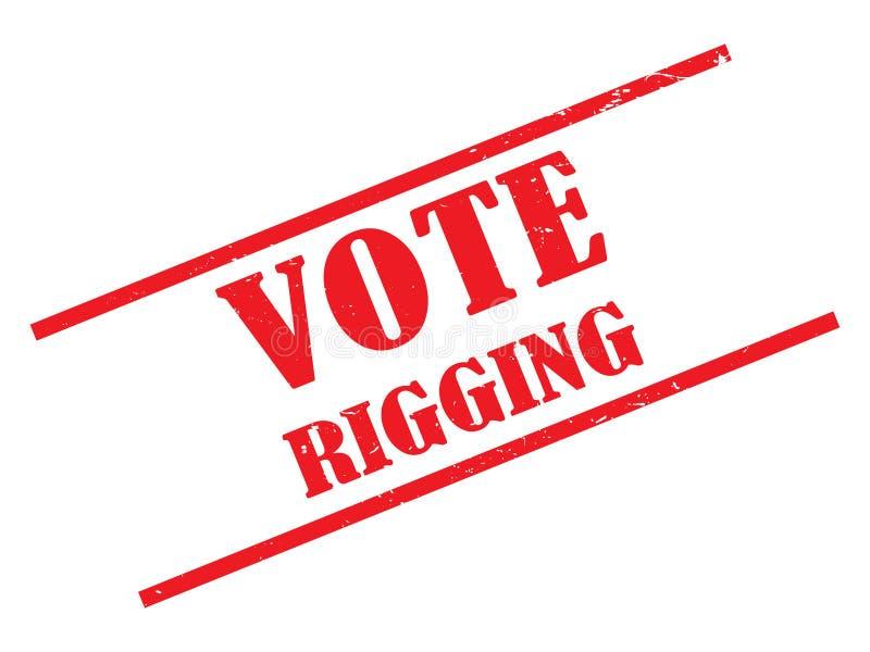 Rösta riggningstämpeln stock illustrationer