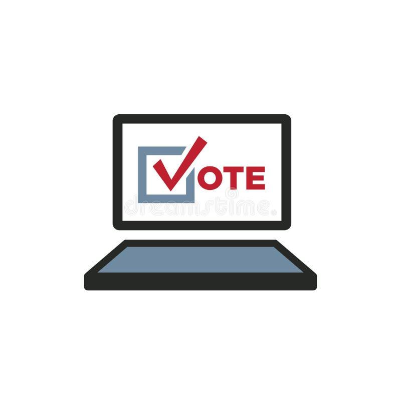 Rösta symbolen 2020 med rösta, regeringen, & den patriotiska symbolismen och färger royaltyfri illustrationer