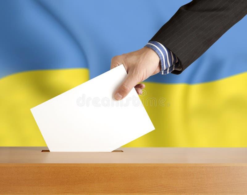 Rösta Ukraina royaltyfri fotografi