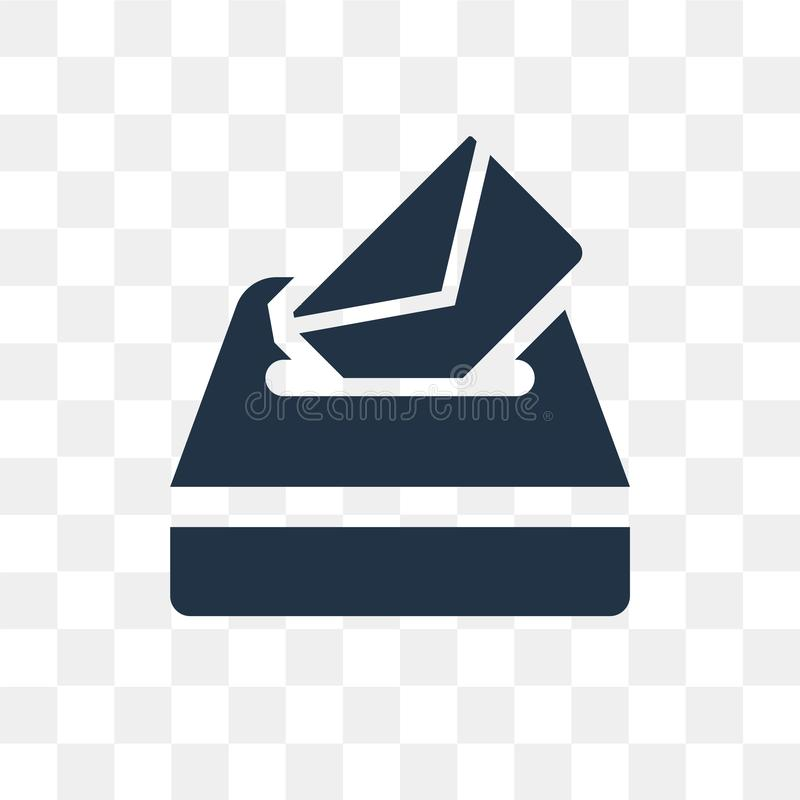 Rösta vektorsymbolen som isoleras på genomskinlig bakgrund, rösta trans. royaltyfri illustrationer