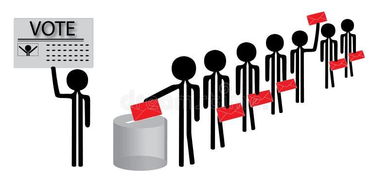 röstning royaltyfri illustrationer