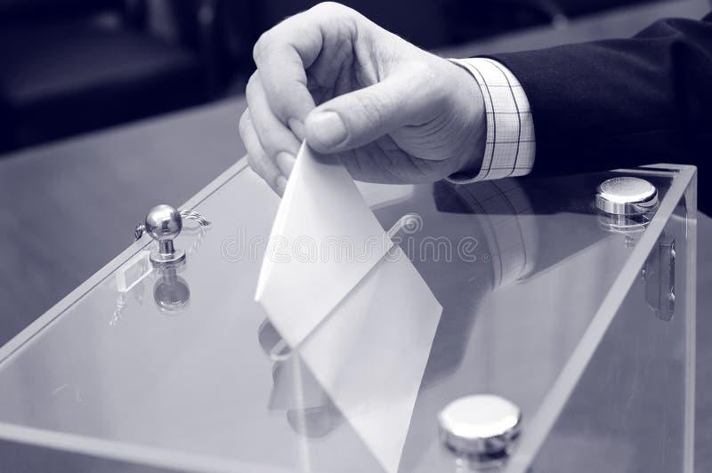 Röstning val arkivbild