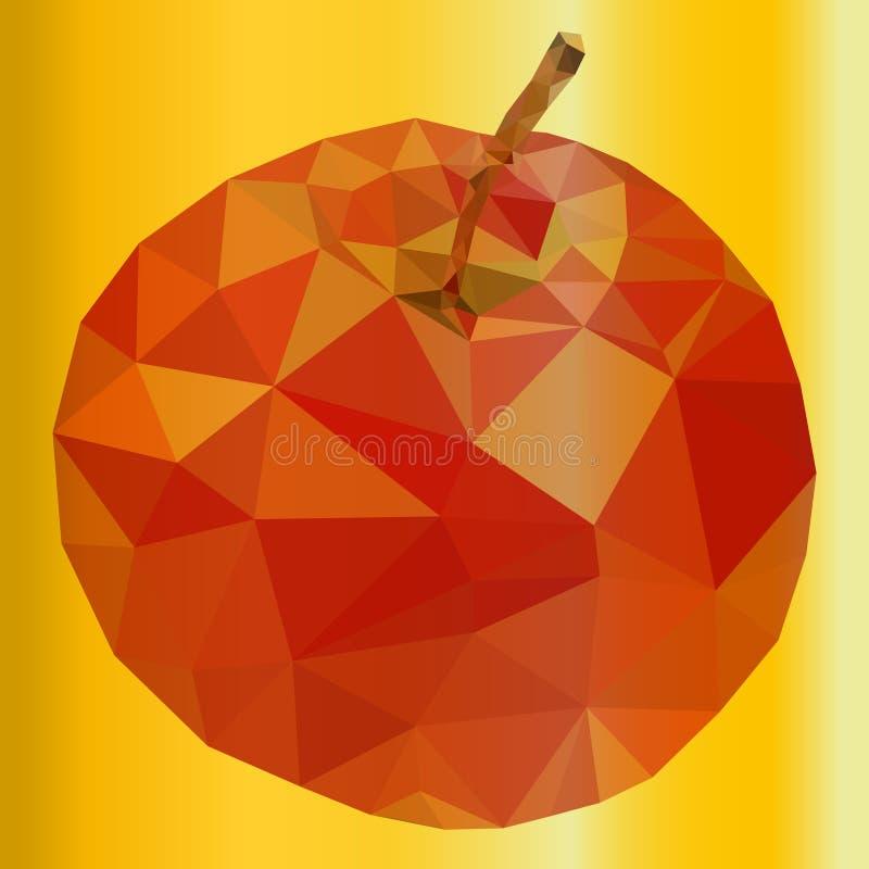 Rött äpple stock illustrationer
