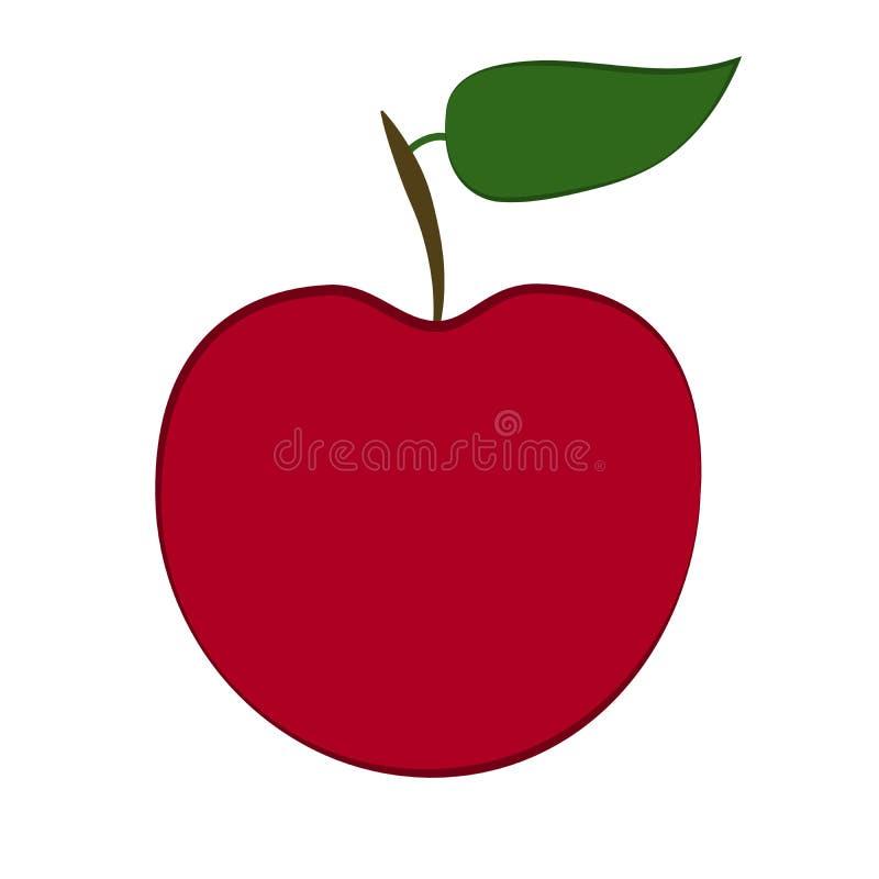 Rött äpple - illustration royaltyfri illustrationer