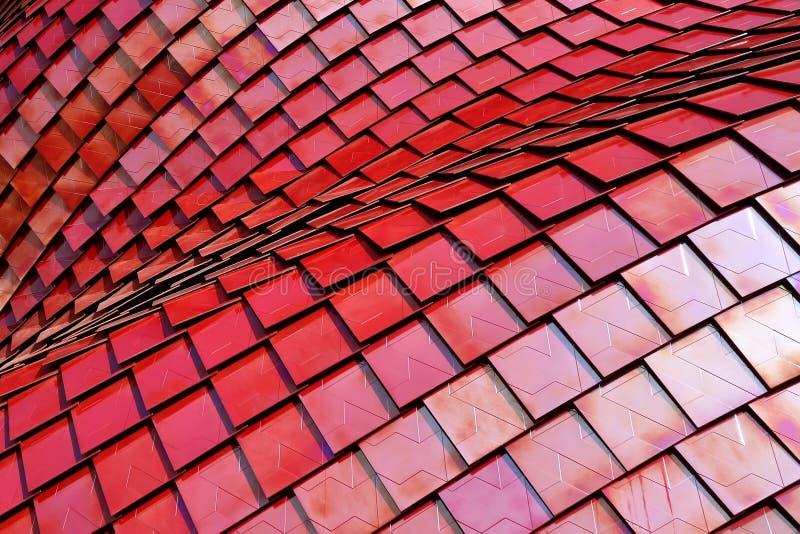 Rött abstrakt raster Mesh Background arkivbild