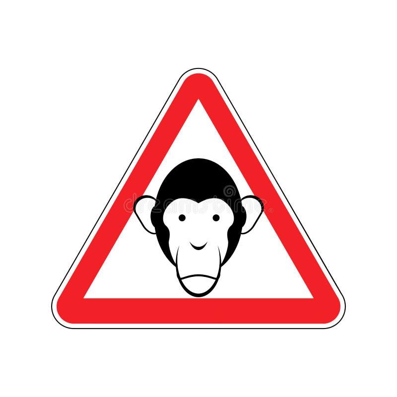Rött apavarningstecken Företräde av farauppmärksamhetsymbolet dan royaltyfri illustrationer