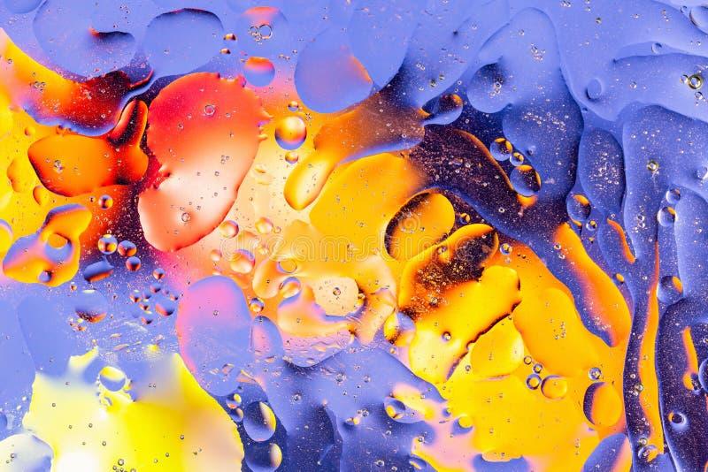 Rött apelsin, blå gul färgrik abstrakt design, textur Härliga bakgrunder royaltyfri illustrationer