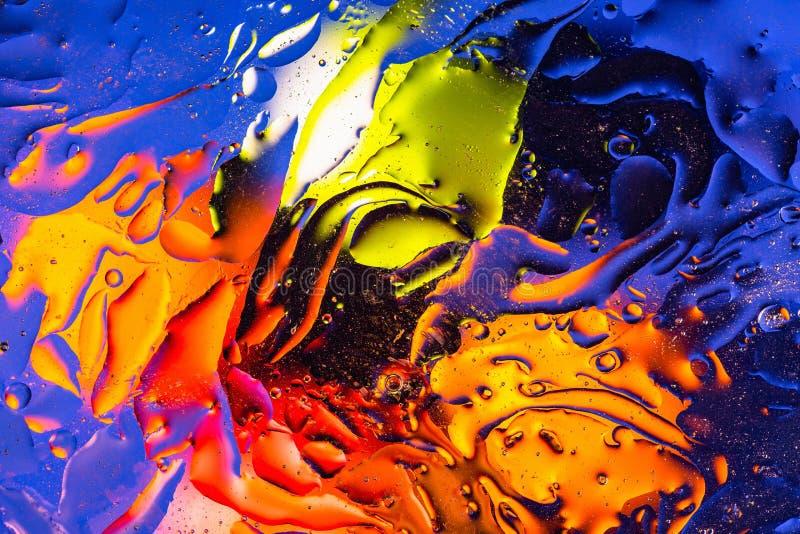 Rött apelsin, blå gul färgrik abstrakt design, textur Härliga bakgrunder arkivbilder