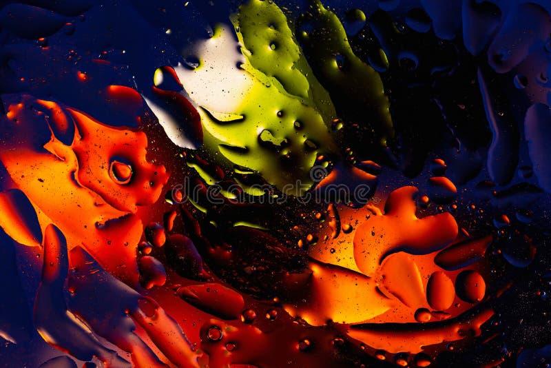 Rött apelsin, svart gul färgrik abstrakt design, textur Härliga bakgrunder royaltyfri bild