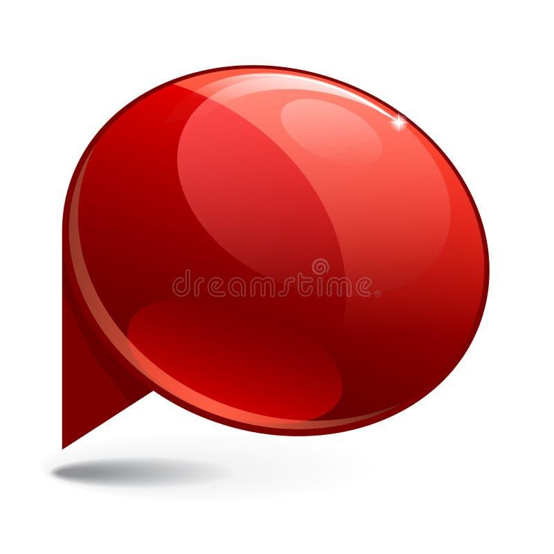 Rött baner 3d för skinande glans stock illustrationer