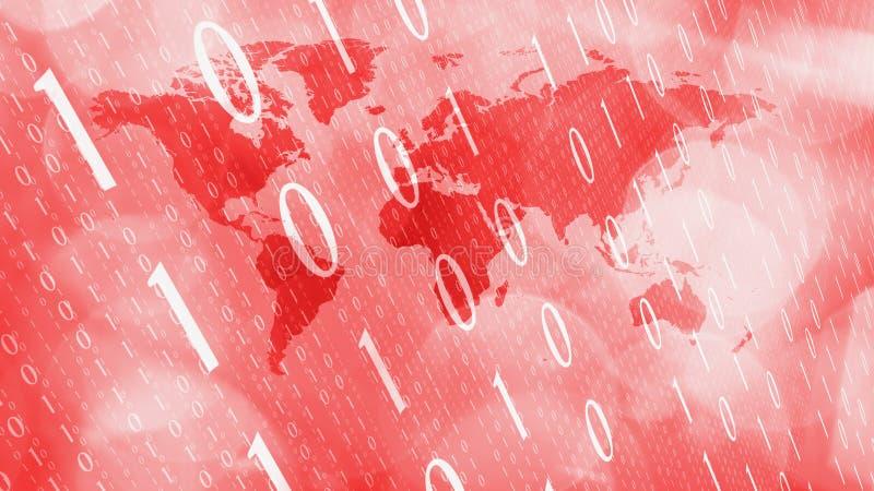Rött begrepp för världsnätverkssäkerhet royaltyfri illustrationer
