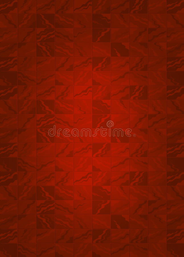 Rött belägga med tegel bakgrund stock illustrationer