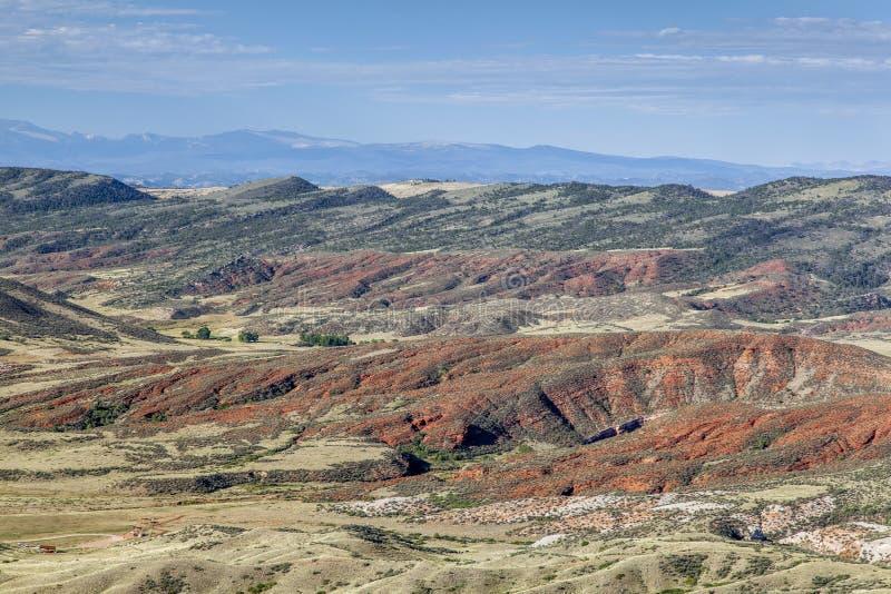 Rött berg i Colorado arkivbilder