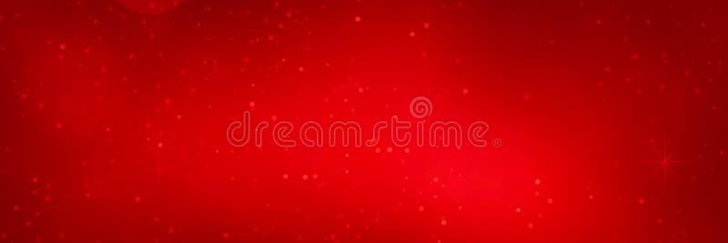 Rött blänka bakgrund för texturjulbanret för jul nytt år och ferie royaltyfri illustrationer
