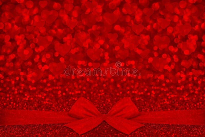 Rött blänka texturvalentins bakgrund för dag arkivfoto