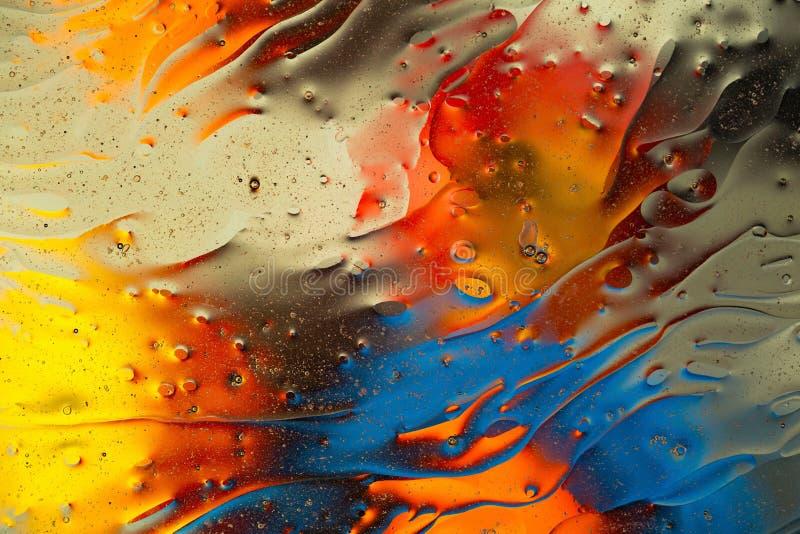 Rött blått, apelsin, svart gul färgrik abstrakt design, textur Härliga bakgrunder royaltyfria foton