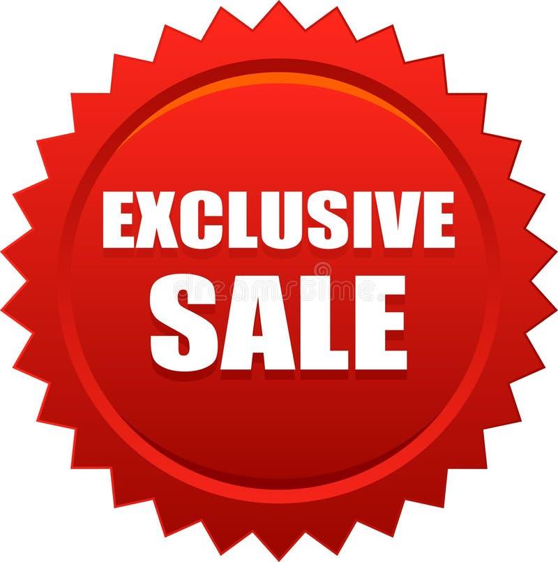rött exklusivt emblem för försäljningsskyddsremsastämpel vektor illustrationer