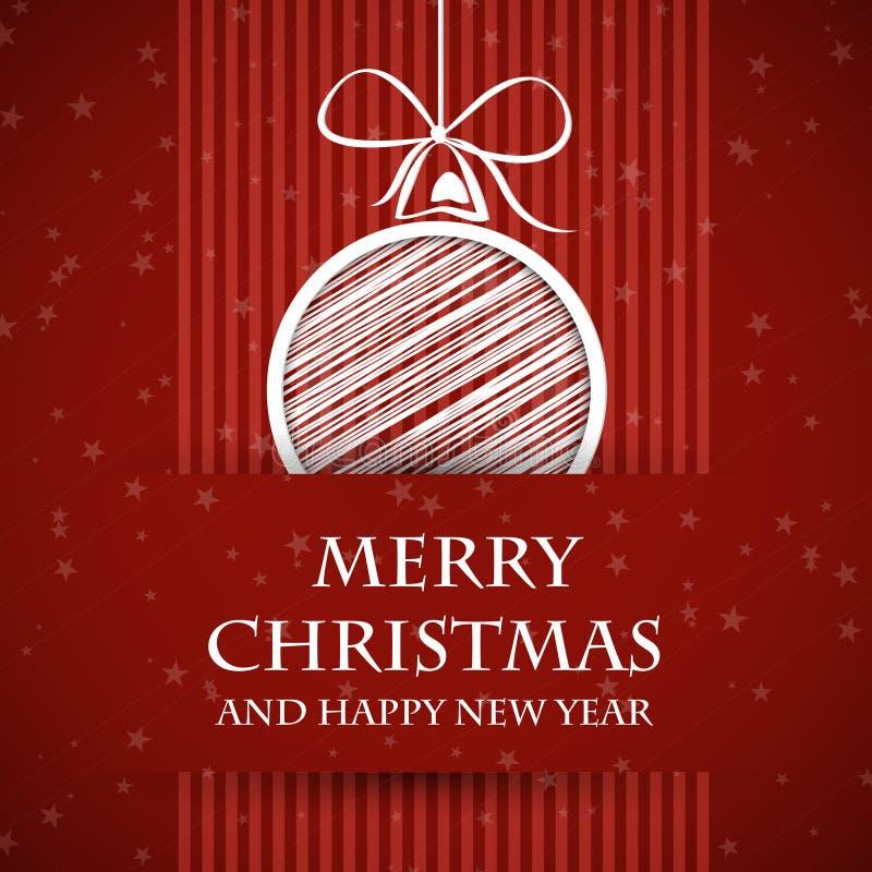 Download Rött förbjudit julkort 2 stock illustrationer. Illustration av prydnad - 27280649