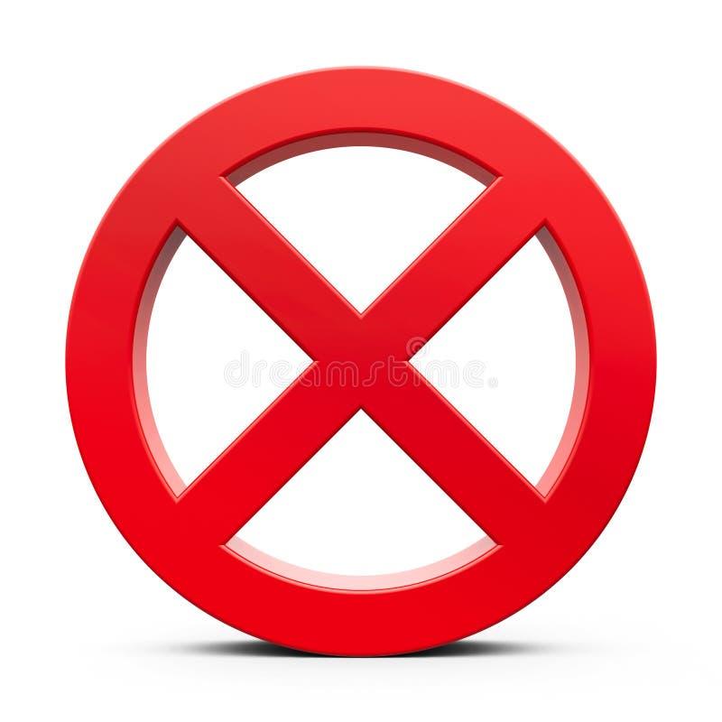 Rött förbudtecken royaltyfri illustrationer
