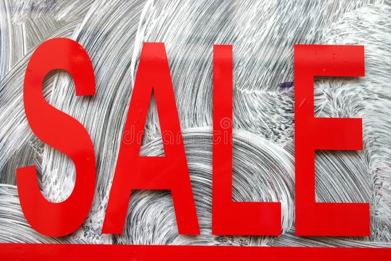 rött försäljningstecken fotografering för bildbyråer