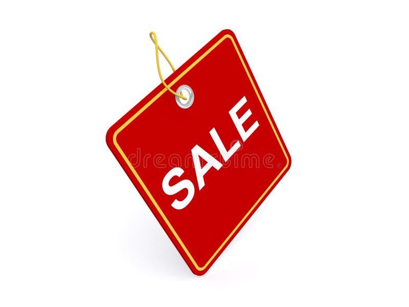 Rött försäljningstecken stock illustrationer