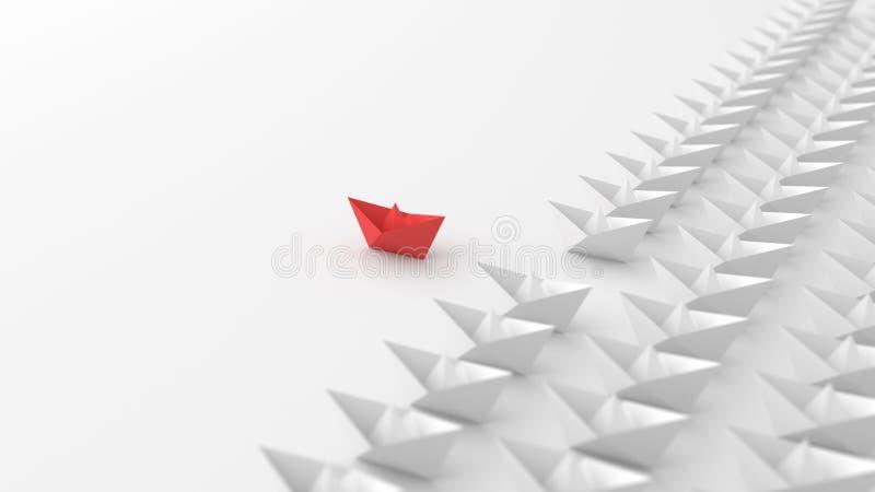 Rött fartyg arkivfoto