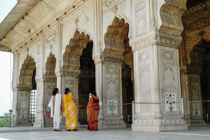 Rött fort i New Delhi, Indien arkivbilder