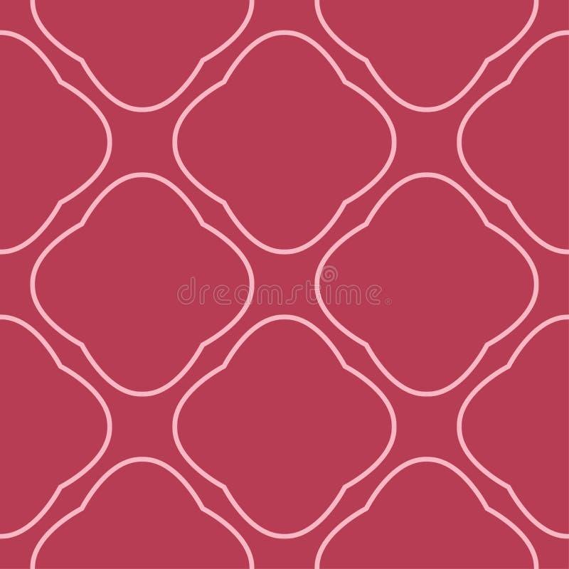 Rött geometriskt tryck seamless modell stock illustrationer