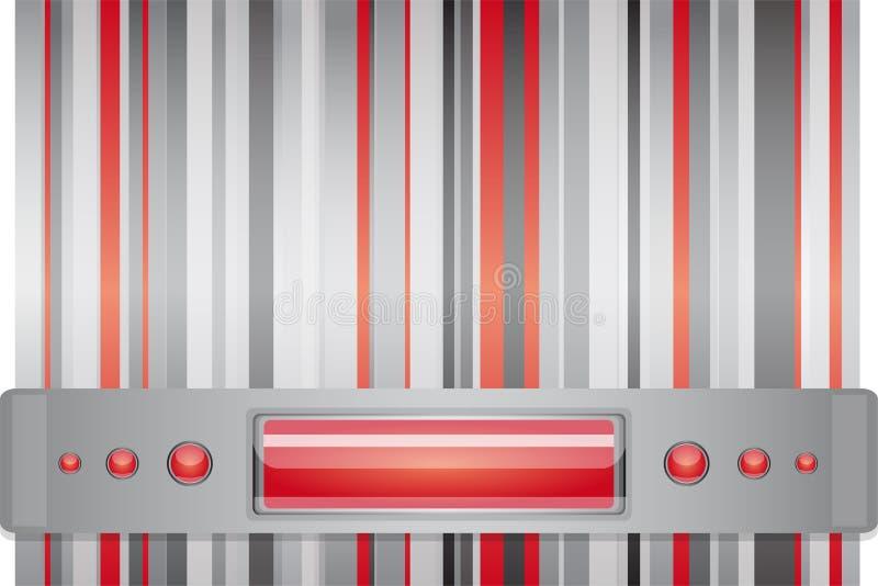 Rött - grå färgbakgrund med orienteringen. royaltyfri illustrationer