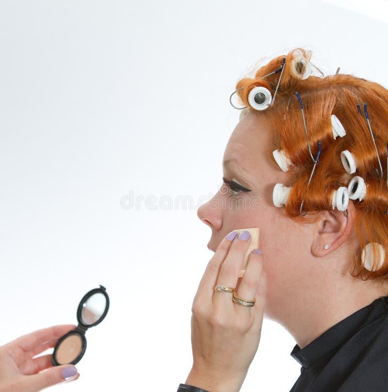 Rött hårflickasmink royaltyfri foto