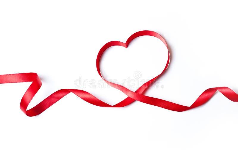 Rött hjärtaband royaltyfri fotografi