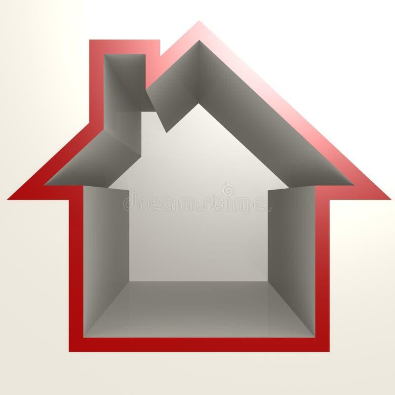 Rött hus vektor illustrationer