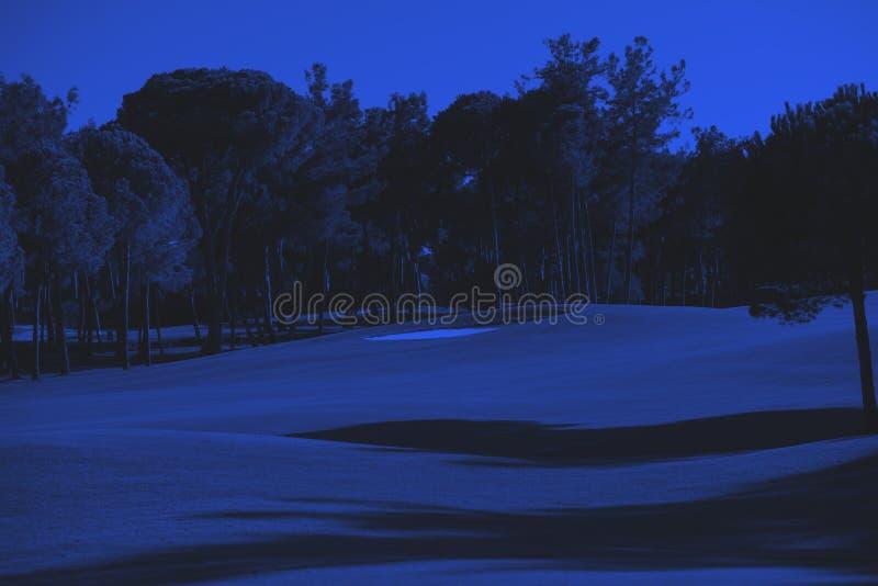 Rött klumpa ihop sig på utslagsplatsen, grund DOF arkivbilder