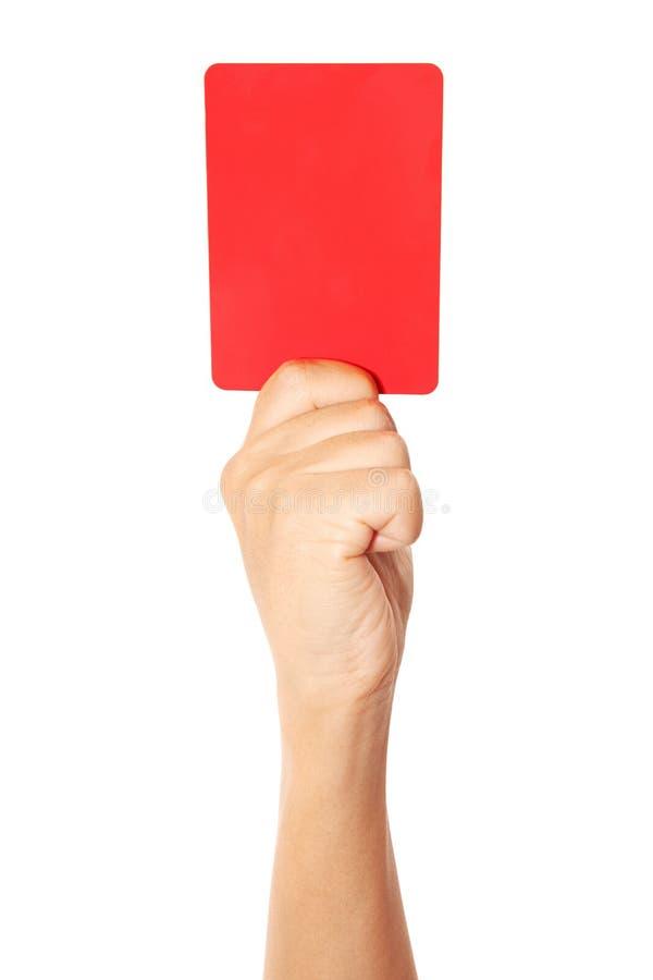 Rött kort arkivbild