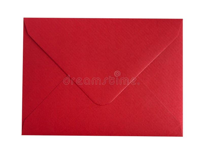 Rött kuvert royaltyfri fotografi