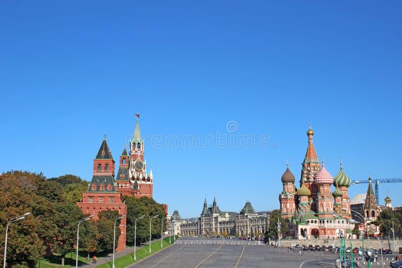 Rött kvadrera i Moscow arkivbild
